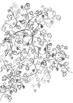 For the interior of the yin yang tattoo. Only with flowers instead of grapes
