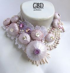 Beautiful hand made bridal necklaces Click on link to see more photos - http://beadsmagic.com/?p=5198