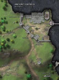 Map of Ancient Fortress
