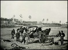 Ambulance Corps Removing Wounded Soldiers