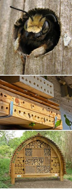 Welcome to the Bee Hotel :: Place des Jardins in Paris ( http://www.arkinspace.com/2012/06/welcome-to-bee-hotel.html )