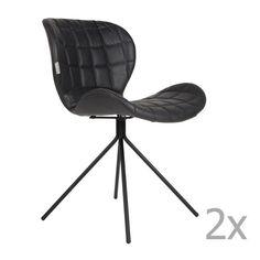 Set 2 scaune Zuiver OMG LL, negru Chair, Furniture, Design, Home Decor, Decoration Home, Room Decor, Home Furnishings, Stool