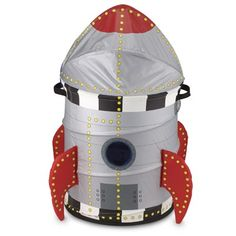 Rocket clothes hamper! So cute! But sadly sold out. :(