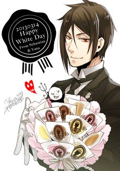 Browse more than 153 Kuroshitsuji pictures which was collected by Pam, and make your own Anime album. Black Butler Ciel, Black Butler Sebastian, Black Butler Kuroshitsuji, Sebastian X Ciel, Book Of Circus, Sebaciel, White Day, Ciel Phantomhive, Hot Anime Guys