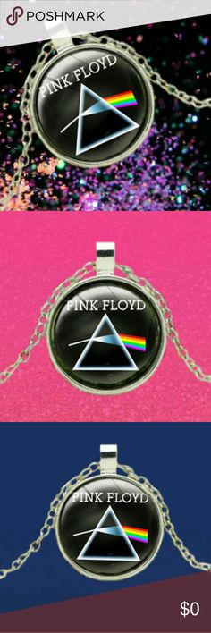 Vintage PINK FLOYD Cabochon Pendant Necklace - Sil Vintage PINK FLOYD Cabochon Pendant Necklace - Silver Tone  .  Vintage PINK FLOYD Cabochon Pendant Necklace - Silver Tone  .  Pendant Size: 28*36mm Chain Length 18 inch   . L5  . . Jewelry Necklaces