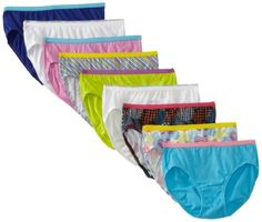 Hanes Girls Hipster Panties Bright Assorted 9 Pack (size 12) Promo - http://mydailypromo.com/hanes-girls-hipster-panties-bright-assorted-9-pack-size-12-promo.html
