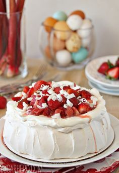With a crunchy meringue, marshmallow-y inside, and fruit compote, this is one spectacular spring dessert. Get the recipe at Sugar Hero.   - CountryLiving.com