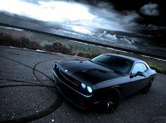 Foto aufgeblasen Muscle-Car Dodge Challenger