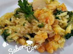 Receita Risoto de camarão e alho poró com brócolis de Saborecor - Petitchef