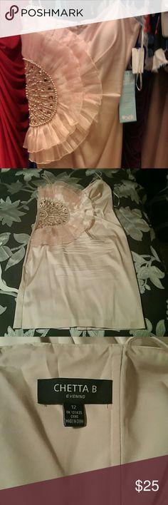 Chetta B evening dress Worn once, pearl embellishments, color - champagne Chetta B Dresses Midi