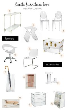 Lucite Furniture Roundup  The Lovely Cupboard