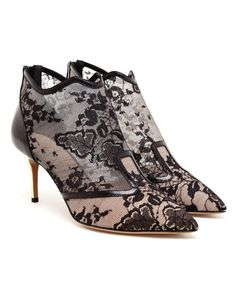 NICHOLAS KIRKWOOD | Floral Lace and Leather Shoe Boots