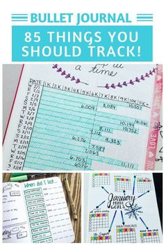 The super fun part of your bujo is the trackers and collections! Choose from our HUGE list of bullet journal ideas So many things to track in your bullet journal you might not have thought of! Bullet Journal Tracking, Bullet Journal Printables, Bullet Journal How To Start A, Bullet Journal Notebook, Bullet Journal Spread, Bullet Journal Layout, Bullet Journal Inspiration, Journal Ideas, Bullet Journals