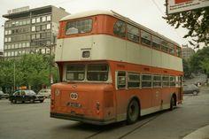 Daimler Fleetline Portugal, Double Decker Bus, Historical Photos, Lisbon, Buses, Vintage Photos, Old Things, Africa, Trucks