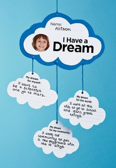 I Have a Dream Mobile - printable template, scholastic instructor.