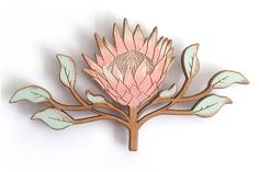 There is 1 protea magnet in a packet.ColourThe Protea is hand painted on natural wide x high x thick. Botanical Illustration, Illustration Art, Collages, Wrought Iron Decor, Gelli Printing, Fabric Painting, Illustrations, Rock Art, Flower Power
