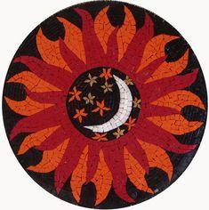 Sun and Moon mosaic