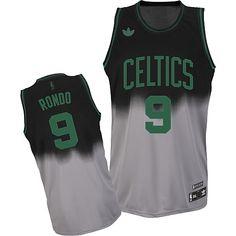 Adidas NBA Boston Celtics 9 Rajon Rondo Fadeaway Fashion Swingman Jersey