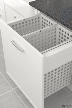 Tanova Laundry: Pull Out Baskets and Bags Keep Laundry Tidy… Tanova Deluxe Laundry: Cabinet, Steel Baskets, Drawer Front Type. Laundry Hamper, Laundry In Bathroom, Laundry Bags, Laundry Cabinets, Modern Laundry Rooms, Laundry Room Inspiration, Laundry Room Organization, Room Closet, Laundry Room Design
