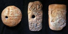 Tartaria Tablets - presumably the oldest form of writing, around 5500-5300 BCE