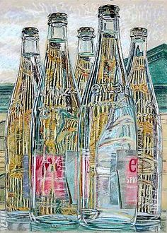 Janet Fish  Evian Bottles  1976