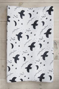 milkii Überzug für Wickelauflage, Nightbird (100% Bambus) Curtains, Shower, Baby Products, Prints, Baby Changing Tables, Overlays, Bamboo, Cotton, Rain Shower Heads