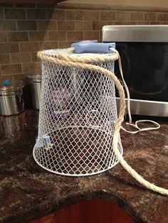 dollar store waste basket makeover, bathroom ideas, crafts, repurposing upcycling, Dollar Store wire waste basket Give your home storage a new look with these 5 budget friendly hacks for your dollar store bins. Dollar Store Bins, Dollar Stores, Dollar Dollar, Jute, Mermaid Room, Bathroom Kids, Bathroom Mirrors, Small Bathrooms, Bathroom Faucets