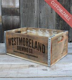 Large Custom Reclaimed Wood Crate by The Inkorporated Crate Co. on Scoutmob Shoppe