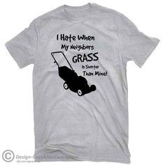 Evolution Of A Man With Lawnmower Grass Cutter Top Gardening Grass Cutting Garden Trim Cut Landscape Plants Tee Unisex T-Shirt