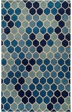 surya paule marrot blue rug