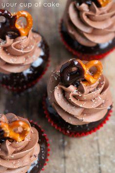Salted Chocolate Cupcake