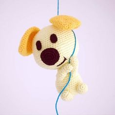 Free - Pip (Woezel & Pip) dog puppy amigurumi crochet pattern // by Sabrina's Crochet Crochet Gratis, Crochet Patterns Amigurumi, Cute Crochet, Amigurumi Doll, Crochet Dolls, Dog Crochet, Crochet Mignon, Crochet Animals, Yarn Crafts