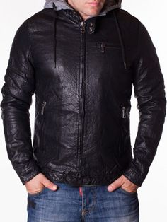 Geaca barbati Hammer din piele Leather Jacket, Interior Design, Jackets, Fashion, Studded Leather Jacket, Nest Design, Down Jackets, Moda, Leather Jackets