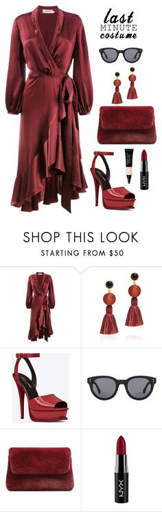 """Untitled #2367"" by ebramos ❤ liked on Polyvore featuring Zimmermann, Lizzie Fortunato, Yves Saint Laurent, MANGO and NYX"