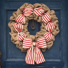 How to Make a Christmas Burlap Wreath (Video). This season bring color and a festive holiday theme to your front door. Watch the video for this fun tutorial. Christmas Wreaths To Make, Burlap Christmas, Holiday Wreaths, How To Make Wreaths, Red Christmas, Christmas Crafts, Christmas Decorations, Christmas Mandala, Winter Wreaths