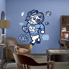unc fathead for Greg's man cave