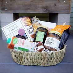 Breakfast in Bed Basket | Nifty Package Co | Custom Gift Baskets | Perfect Gift for any Occassion: birthday, holiday, thank you, sympathy, thinking of you, anniversary, housewarming, just because Themed Gift Baskets, Gourmet Gift Baskets, Corporate Gift Baskets, Corporate Gifts, Rustic Bakery, Company Gifts, Realtor Gifts, Creative Brochure, Client Gifts