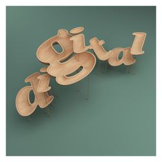 Gorgeous 3-D typography by designer Rizon Parein. See the rest of the mixed media portfolio at http://www.rizon.be/