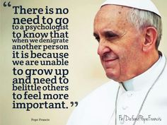 Wisdom from Pope Francis