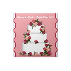 This Wedding Cake Tile features a mouse drawn weeding cake. Customize with your own names and dates. Makes a great wedding gift when framed or made into a jewelry box. #wedding #tilebox #weddinggift