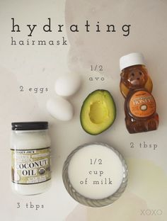 Hydrating Hair Mask – Beauty and Crafts Feuchtigkeitsspendende Haarmaske – Beauty and Crafts Natural Hair Mask, Natural Hair Tips, Natural Hair Styles, Natural Face, Hair Mask For Growth, Hair Growth Tips, Hair Mask For Damaged Hair, Hair Mask Curly Hair, Damaged Hair Repair Diy