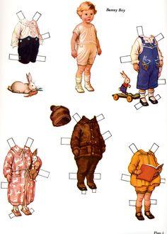 Little Busybodies Paper Dolls, Bunny Boy.