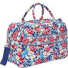 New Authentic Vera Bradley Summer Cottage Weekender Tote Bag Large Duffel   eBay