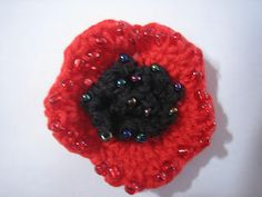 """Lest We Forget, April 25 """"In Flanders fields the poppies blow Between the crosses, row on row, """" (John McCrae) I have des. Crochet Poppy Pattern, Crochet Patterns, Crochet Ideas, Anzac Poppy, Crochet Designs, Flower Crafts, Crochet Flowers, Embroidery Stitches, Crochet Projects"""