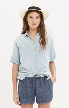 short sleeved chambray! love! (with spaghetti strap underneath)