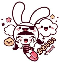 Powerpuff meets Peko in pirate bunny hat? Yes, please.