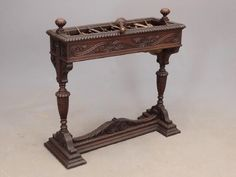 Antique carved wood xylophone