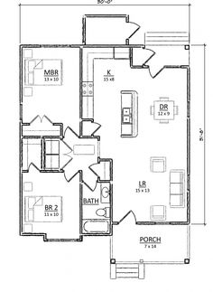 a49268f19cdcb21eb330bfc8497229b2 two bedroom house small house plans 500 sf house plan this efficient plan maximizes every square,Retirement Home Plans Small