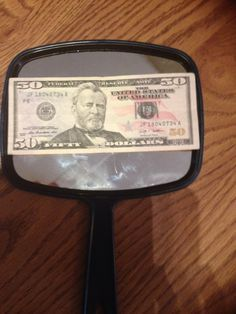 50th birthday gift Buy a mirror at the dollar store on one side use sticky letters that says 50 looks good on the mirror side use a piece of tape and adhere a $50 bill Great 50th birthday idea, simple...