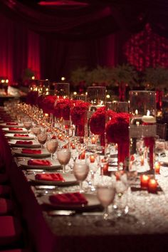 The gala ballroom at the old capitol inn jackson ms perfect for luxury red wedding reception centerpieces with floating candles junglespirit Images